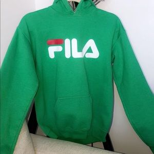 Green Fila hoodie from Urban Outfitters